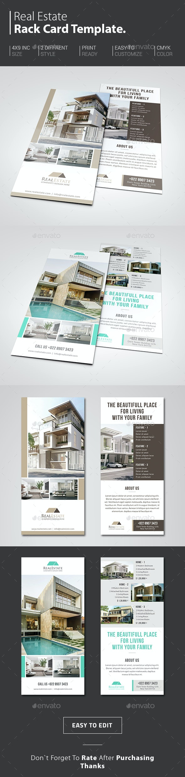 Real Estate Rack Card - Corporate Flyers