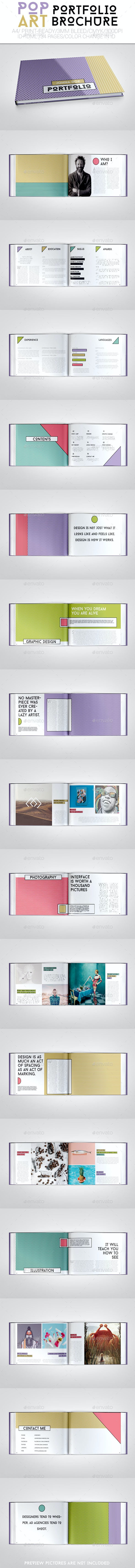 Pop Art Portfolio Brochure - Brochures Print Templates