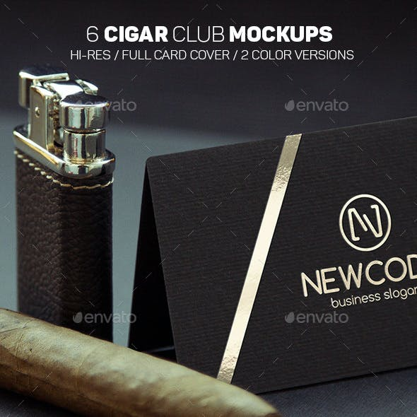 Cigar Club Logo Mockups