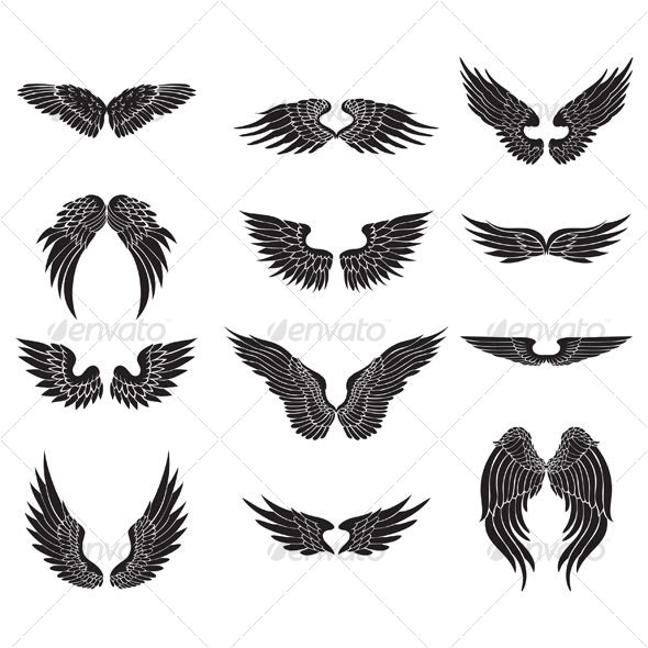 wings design - Animals Characters