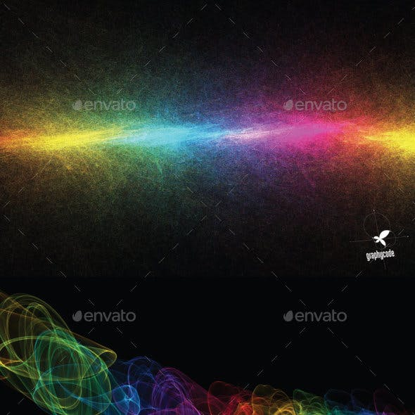 10 abstract rainbow backgrounds