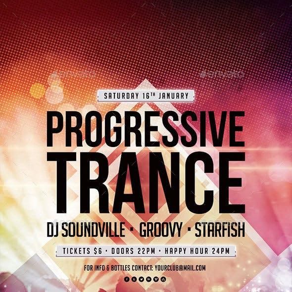 Progressive Trance Flyer