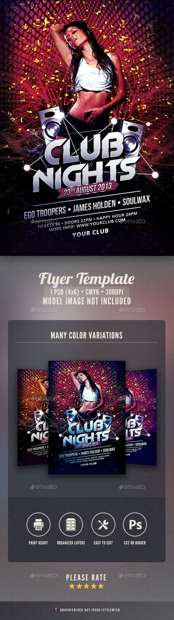 Club Nights Flyer - Clubs & Parties Events