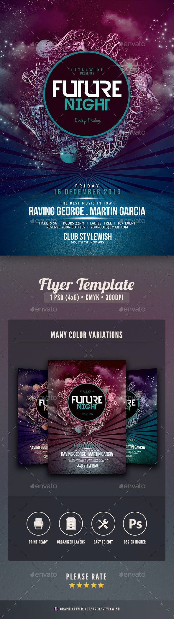 Future Night Flyer - Clubs & Parties Events