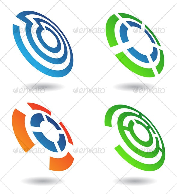 four abstract shapes - Abstract Icons