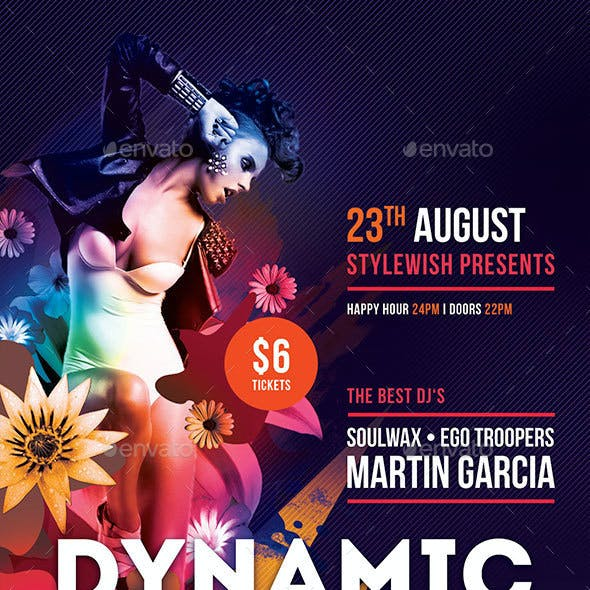 Dynamic Beats Flyer + Facebook Timeline