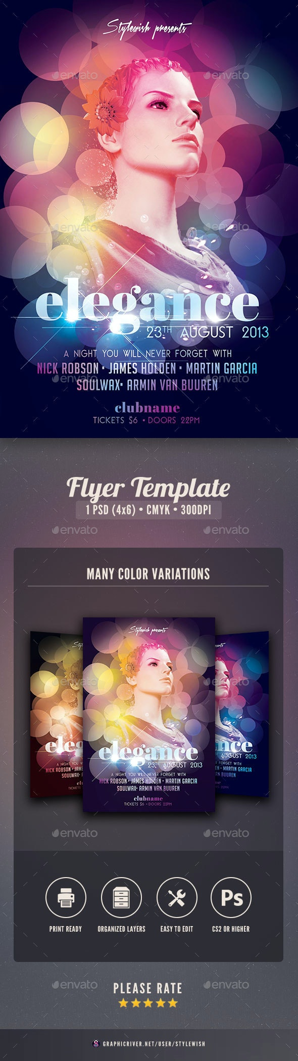 Elegance Flyer - Clubs & Parties Events