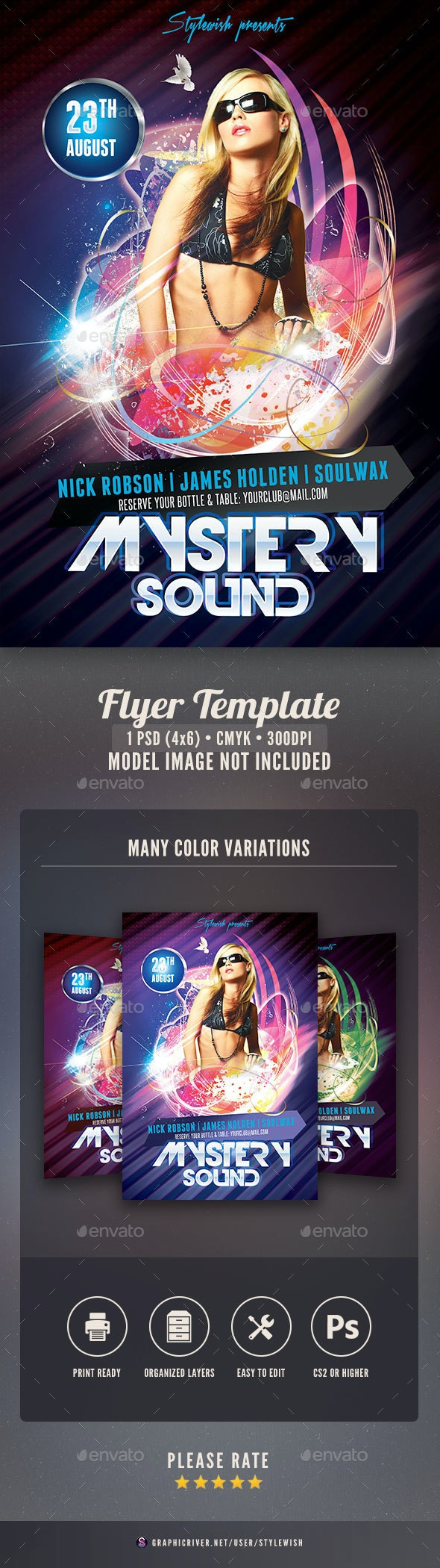 Mystery Sound Flyer - Clubs & Parties Events
