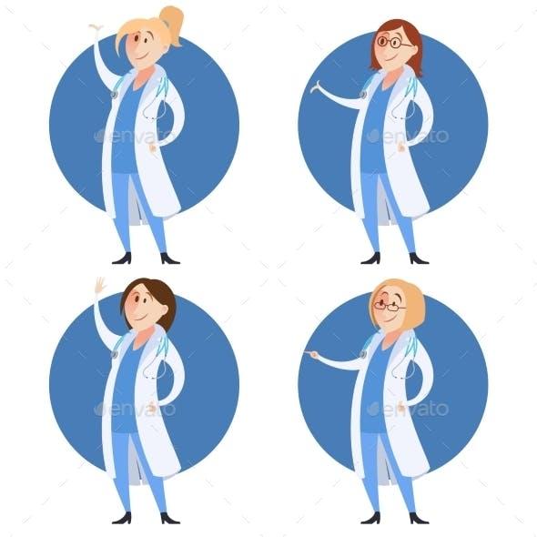 Set of Doctor Women
