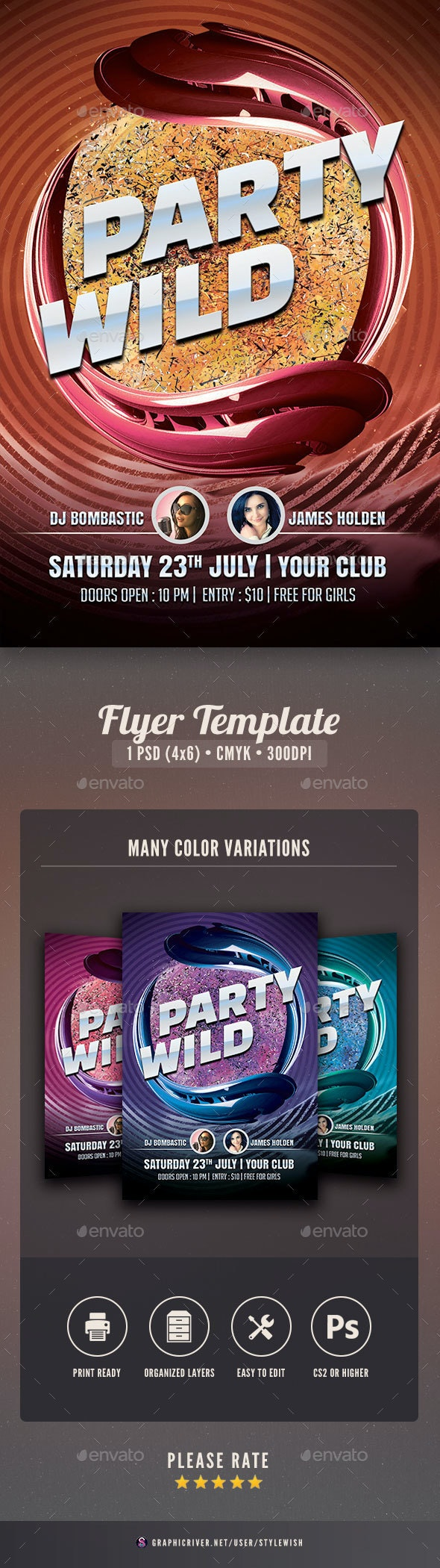 Party Wild Flyer - Clubs & Parties Events