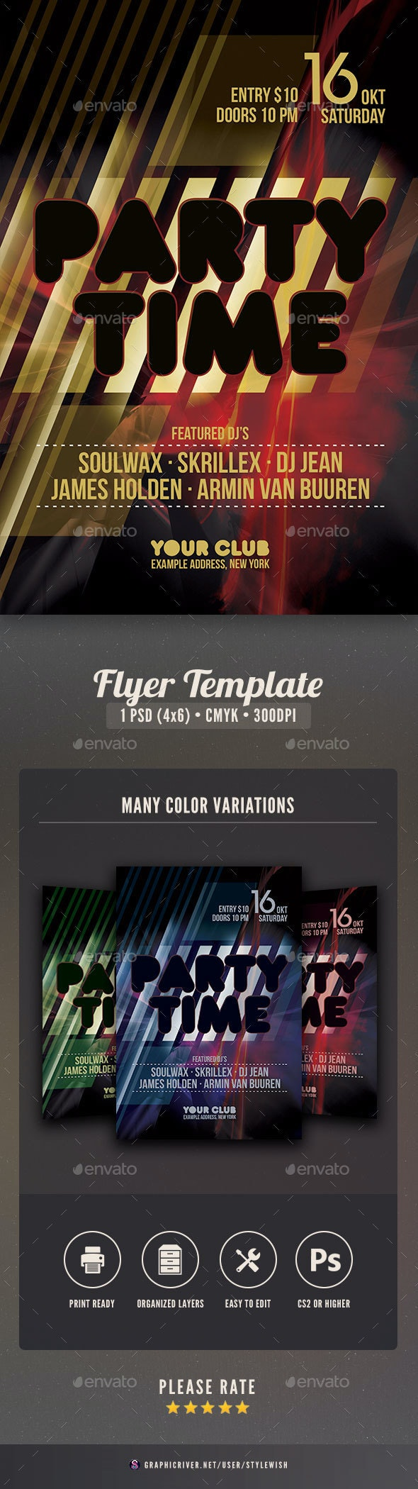 Party Time Flyer - Clubs & Parties Events