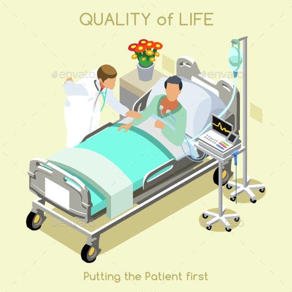 Patient Visit People Isometric