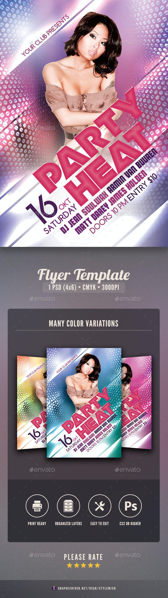 Party Heat Flyer - Clubs & Parties Events