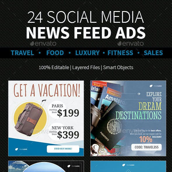 24 News Feed Ads | Category Based