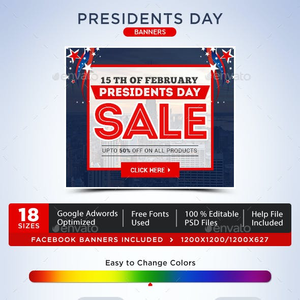 Presidents Day Banners
