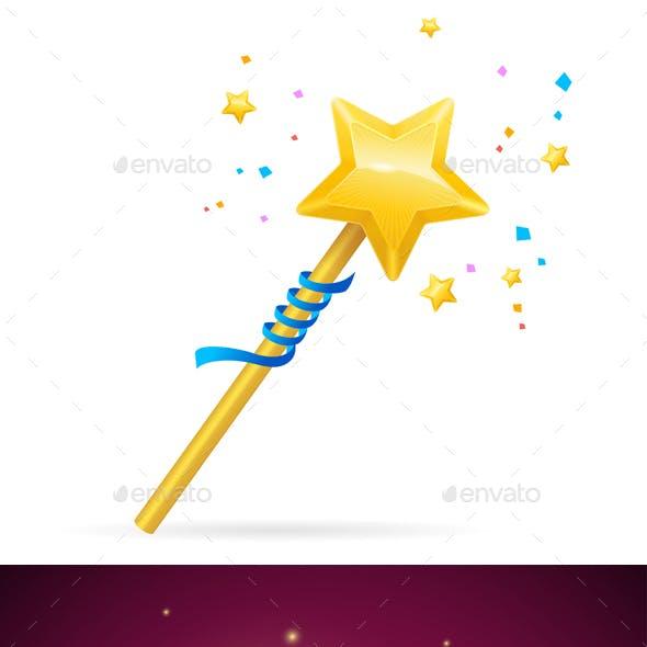 Magic Wand with Shining Star