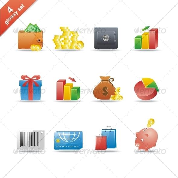 Glossy icon set 4 - Web Icons