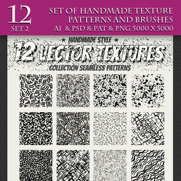 Set of Handmade Texture Pattern and Brushes, 2