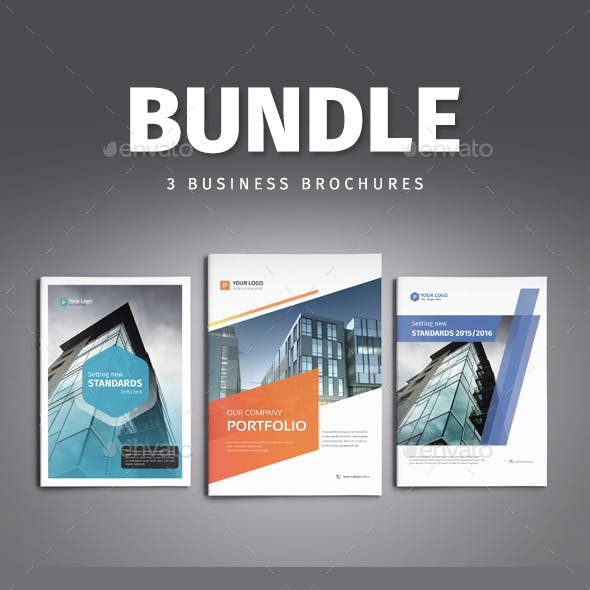 Brochure A4 Bundle - Templates for Indesign