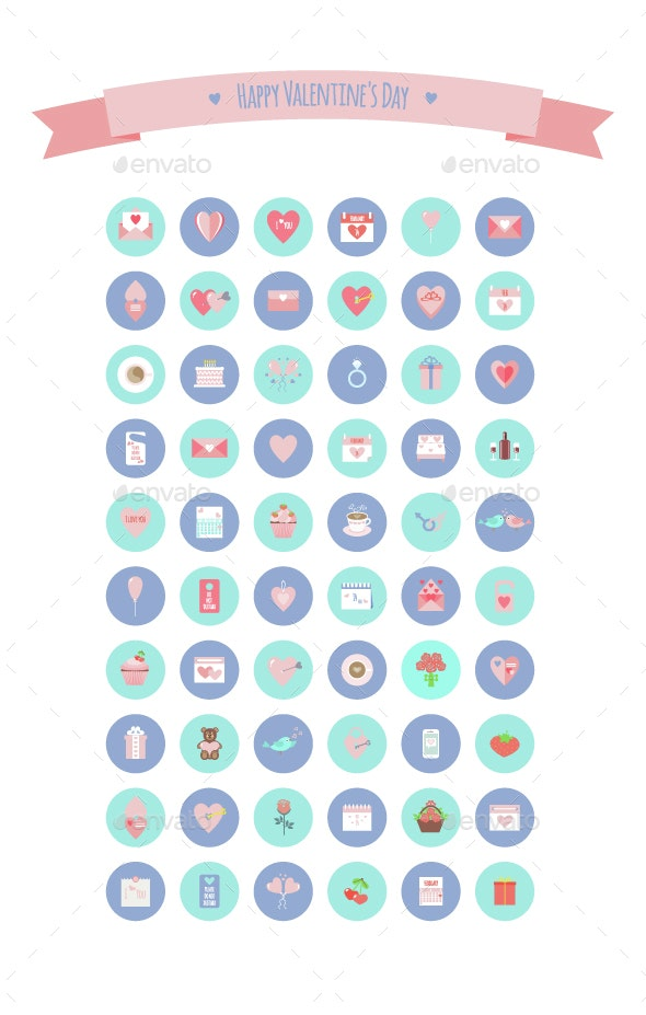 Set of Valentine Icons