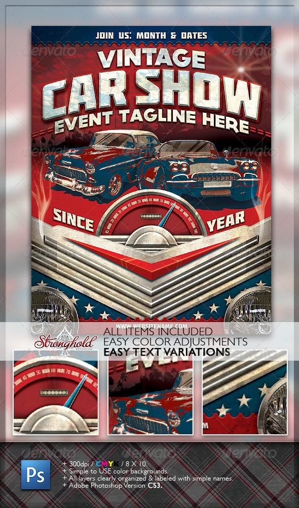 Vintage Car Show Flyer - Miscellaneous Events