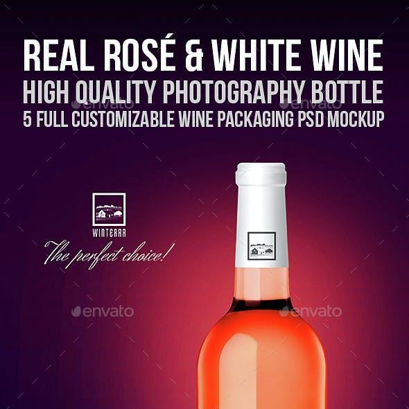 Real Rosé & White Wine Mockup