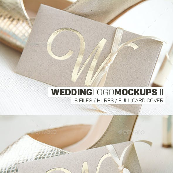 Wedding Logo Mockups II