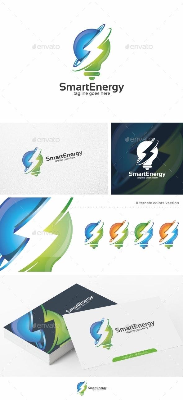 Smart Energy / Bulb - Logo Template