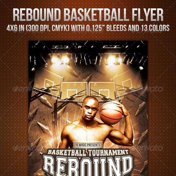Rebound Basketball Flyer