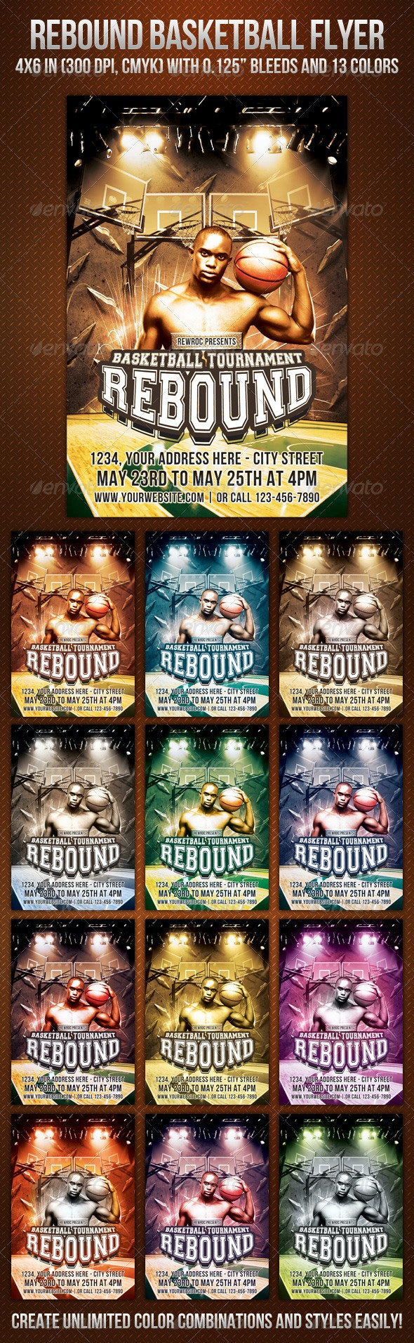 Rebound Basketball Flyer - Sports Events