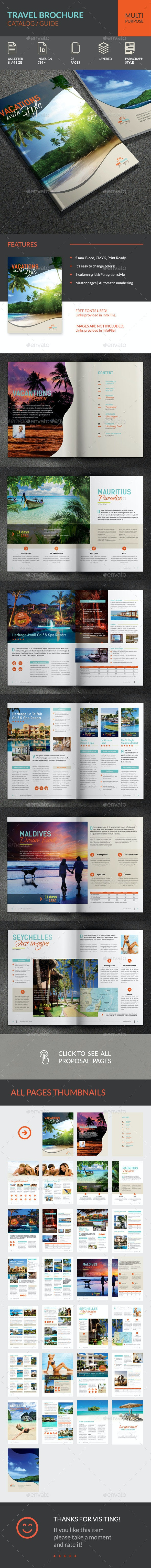 Travel Brochure - Brochures Print Templates