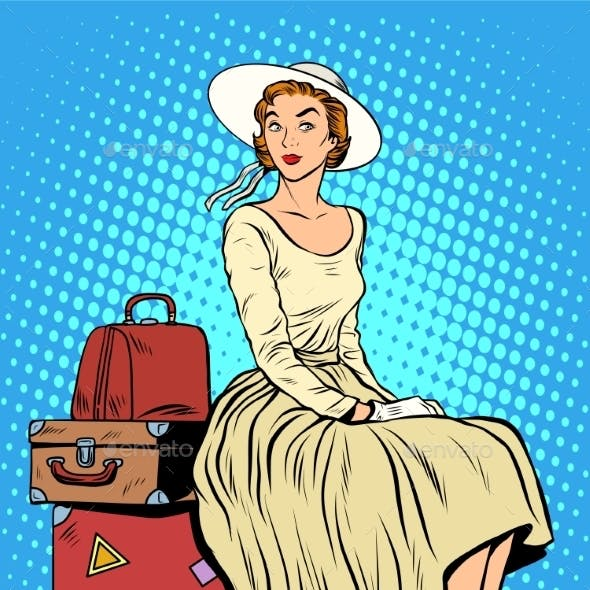Girl Passenger Baggage Travel Trip