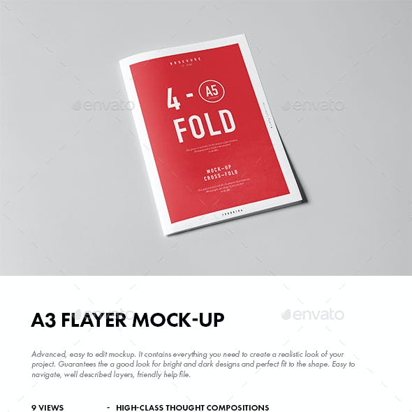 A3 Flyer Mock-up