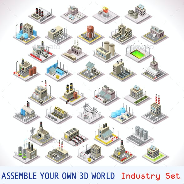 Game Set 05 Building Isometric
