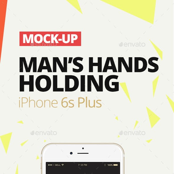 Man's Hands Holding iPhone 6s Plus | Silver, Space Grey, Gold