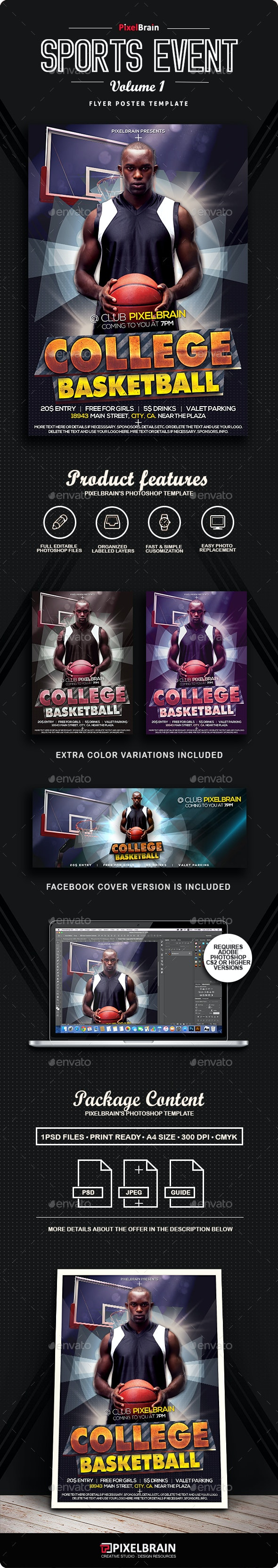 Basketball Flyer/Poster Vol. 1 - Sports Events