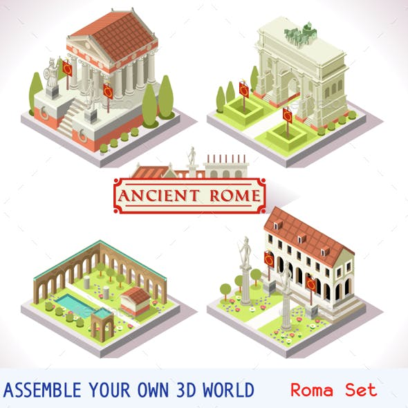Roman Tiles Isometric