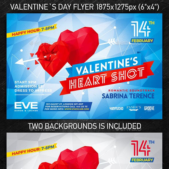 Valentine`s Day Party Flyer vol.3