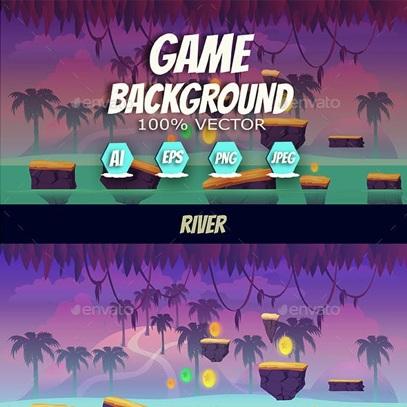 River Jump Game Background