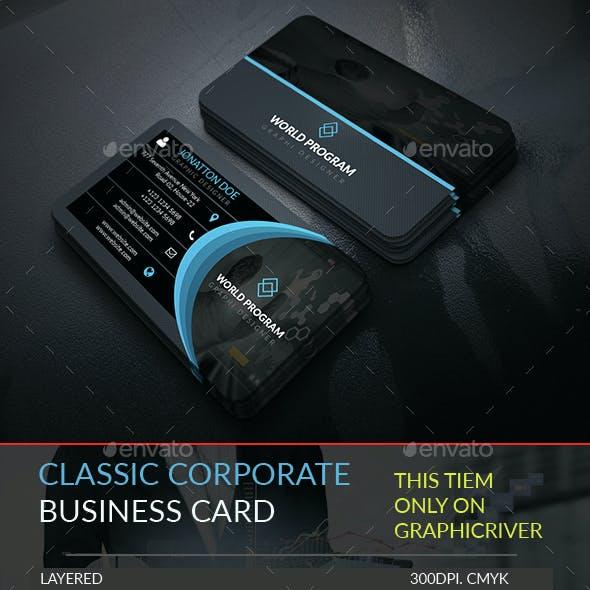 Classic Corporate Business Card Template.250