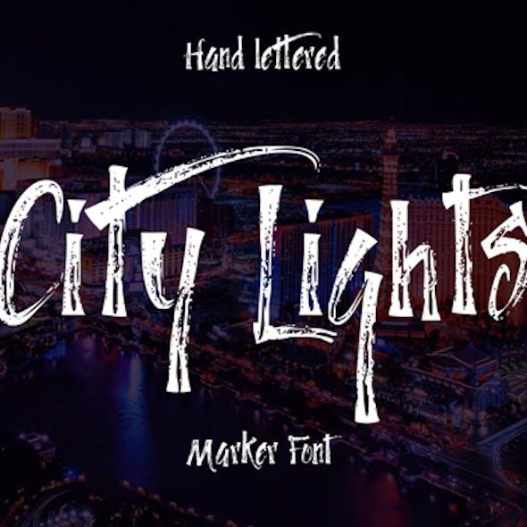 City Lights Marker Font