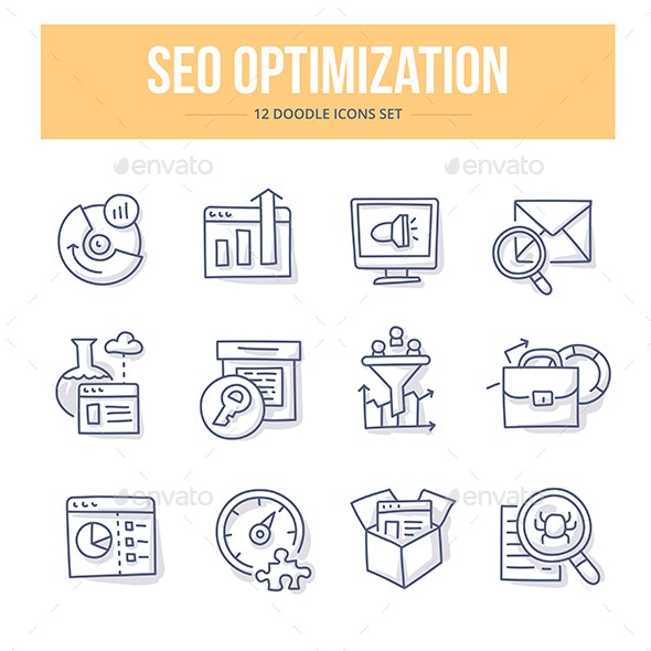 SEO Doodle Icons - Technology Icons