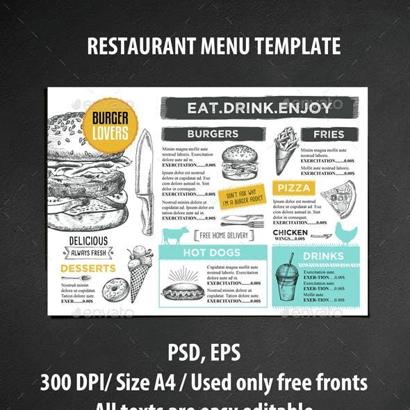 Menu Restaurant Template