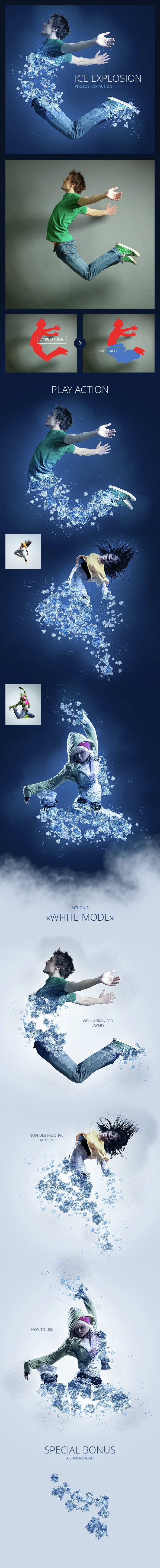 Ice Explosion - Photo Effects Actions