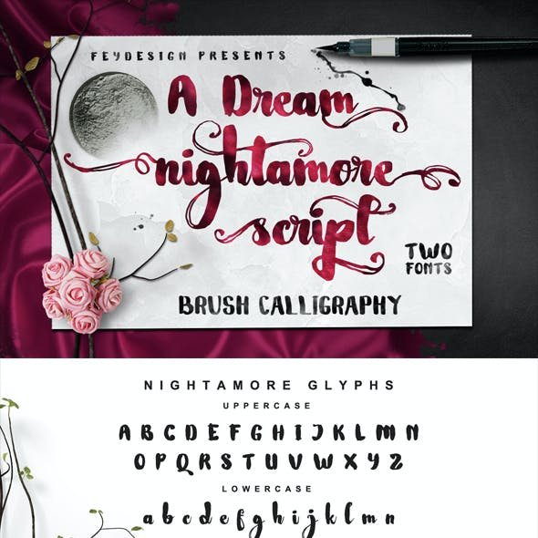 Nightamore Brush Calligraphy