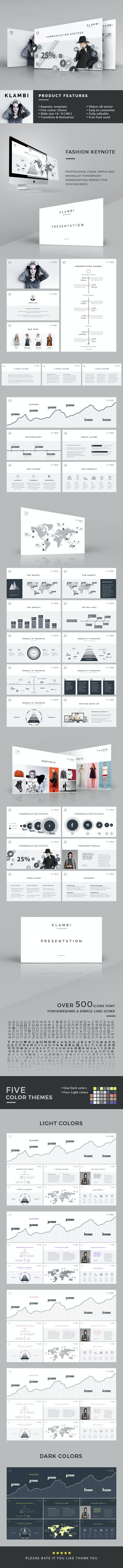 Fashion Keynote Template - Creative Keynote Templates