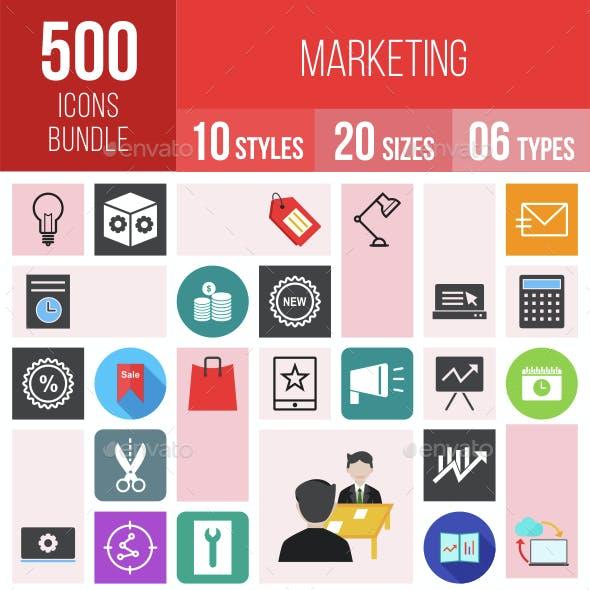 500 Marketing Icons Bundle