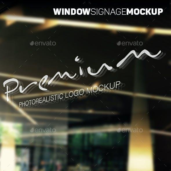 Window Signage Logo Mockup