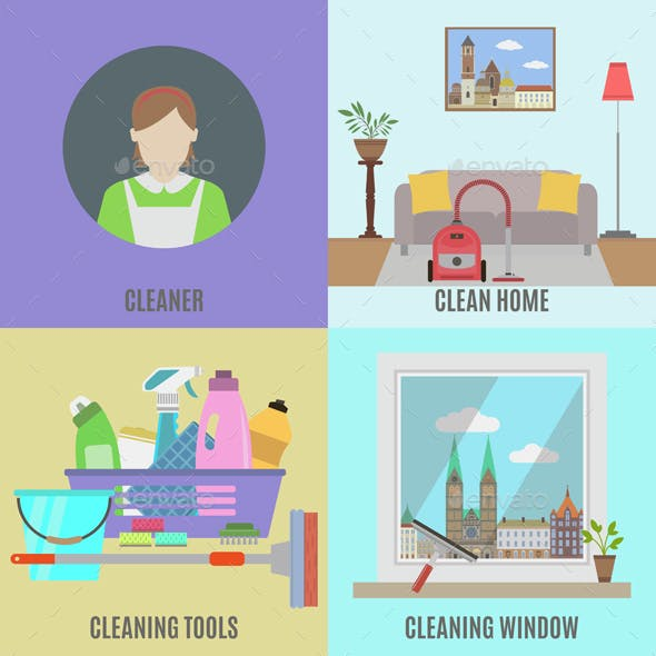 Cleaning Service and Tools