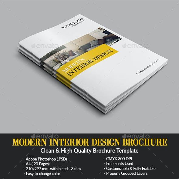 Modern Interior Design Brochure/Catalog